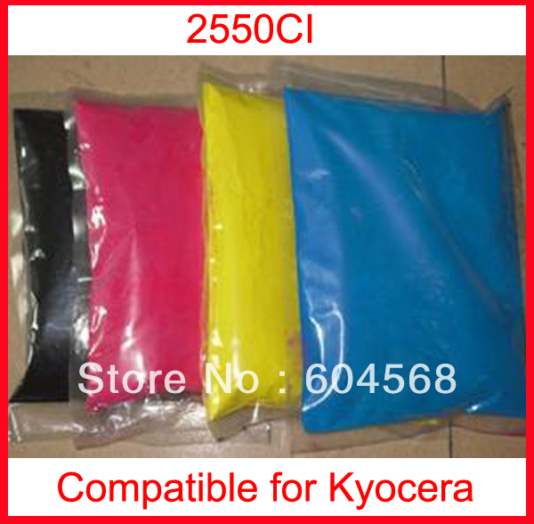 High quality color toner powder compatible kyocera 2550ci Free Shipping high quality color toner powder compatible kyocera c5350dn free shipping