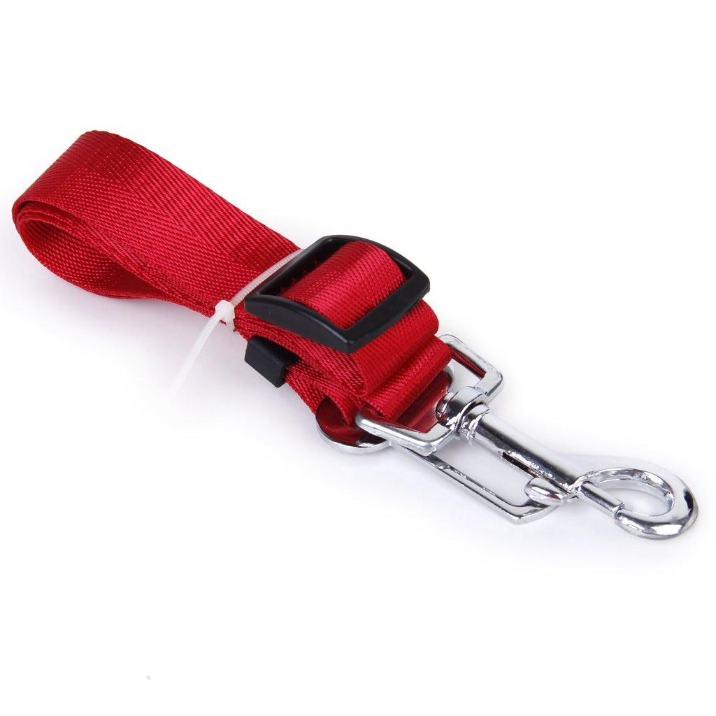 Safety Belt Restraint Leash Adjustable for Dog Accessory Car(Red)