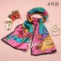 Animals Cat Dog Friend Cartoon Design Children Girl Gift Fashion Scarf 100% Silk 8mm Handbag Hair Decoration Wholesale