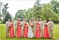 Wholesale Long Coral Bridesmaids Dress One Shoulder Plus Size Bridesmaid Dress Cheap Formal Party Gowns Free Shipping o36