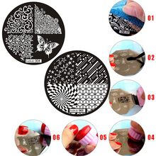 3D fashion pattern nail stamping plate leopard plaid art stamp template Polish printing beauty mold tool