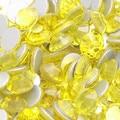 1000 pcs 3mm lemon 14 facetas de resina rodada strass espumante pedrinhas nail art decoração diy n10