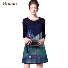 New Autumn Women Knitting Dress Embroidery Short Plus High Quality Mongolia Chinese Ethnic Dress Designs For Ladies A-line Mini