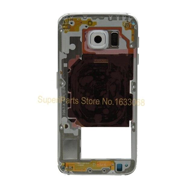 10 ШТ. Оригинал Ближний Шасси для Samsung Galaxy S6 Edge Plus Вернуться Ближний Рама Задняя Крышка Корпуса Запасные Части + Tracking