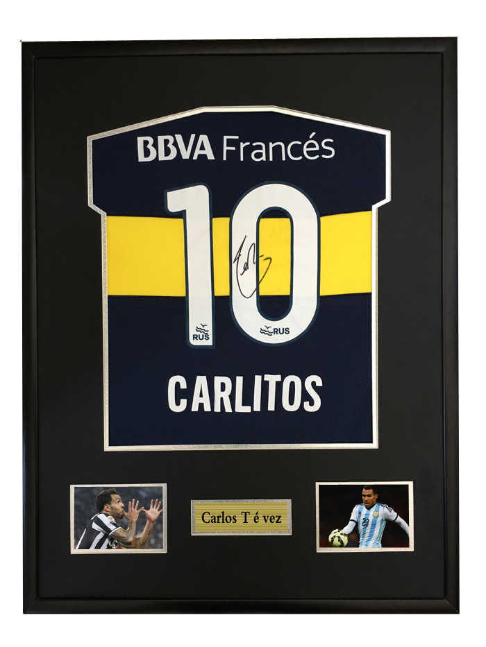 brand new 2c881 ca04d Carlos Tevez signed autographed soccer shirt jersey come ...