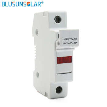 Base de fusible Solar PV 1000V DC Fusible 10x38 de 1 -32A, LED portafusibles para Sistema Solar protección ZTPV-25X 2