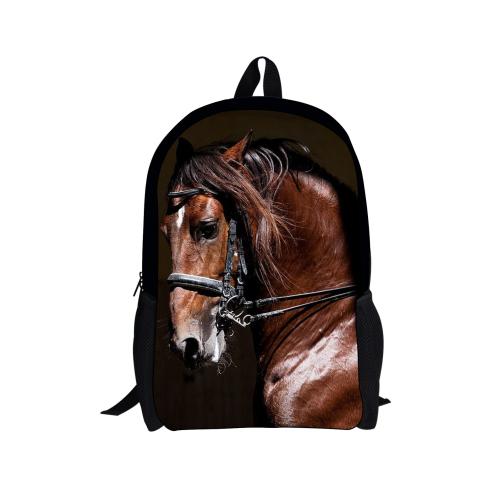 2016 forudesigns mochila caliente para los niños, animales caballo de impresión adolescentes back pack, bolso de escuela los niños mochila envío envío