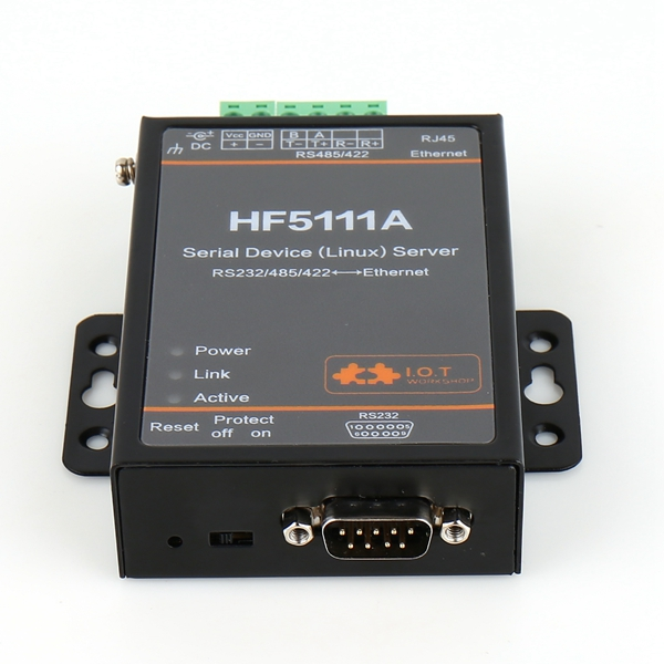 HF5111A Free Shipping RJ45 RS232/485/422 To Ethernet Linux Serial Port Server Converter Device Industrial hightek hk 8204a industrial usb to 4 port rs232 serial converter