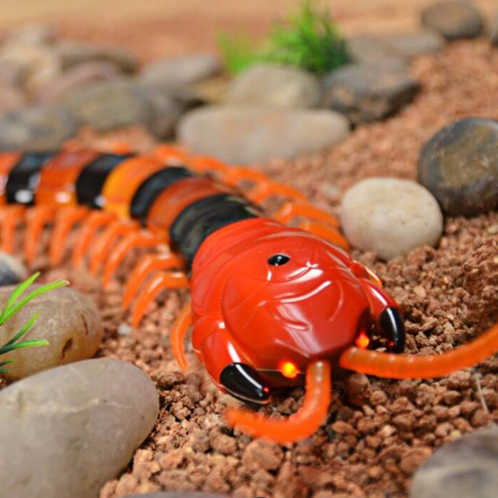 Hot Infrared RC Centipede Fake Insect Remote Control Centipede Creative Electric Animal Prank Toys Tricky Funny Kids Gifts RCToy