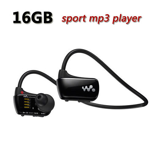 Free Shipping Sports mp3 player for sony Walkman NWZ-W273 16GB headset W273 mp3 music player earphone headphone with logo