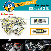 Cawanerl Car Interior LED Package Kit 2835 SMD White Canbus Bulb Door Dome Map License Plate Light For 2009 2012 Audi Q5 (8R)
