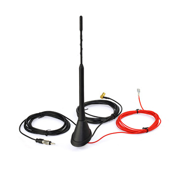 Superbat Universal Telhado Monte Digital DAB Antena com Amplificador para DAB DAB + rádio AM/FM Antena de Rádio de Carro Aéreo SMB Conector