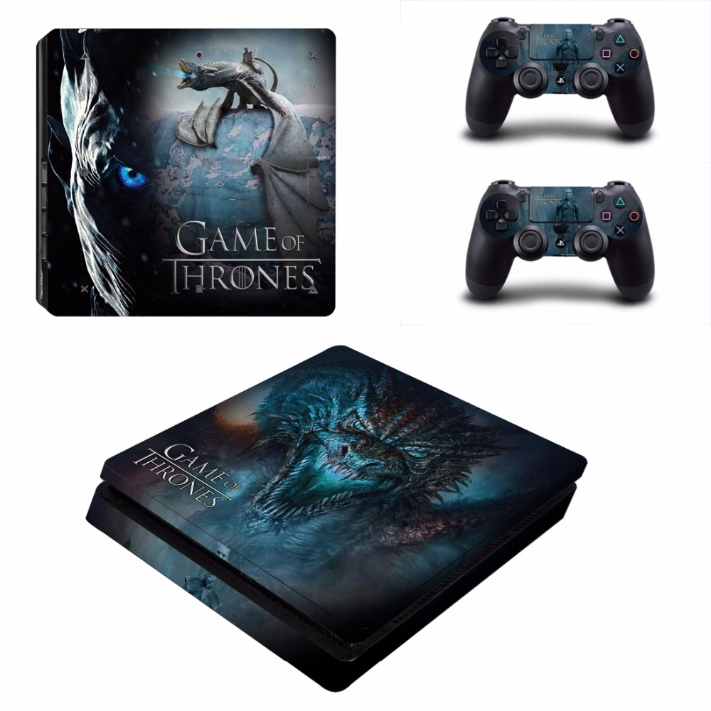 Game of Thrones Winter is Coming PS4 Slim Skin Sticker Decal for PlayStation 4 Console and 2 Controller Skin PS4 Slim Sticker