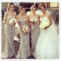 Grey Lace bridesmaid Dress heart shape Tight Lace elegant dress