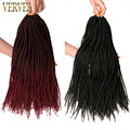 Ombre Crochet Braid hair 18inch 75grams/pcs,small Senegalese Twist Hair 30 roots Synthetic Braiding Hair braiding hair extension