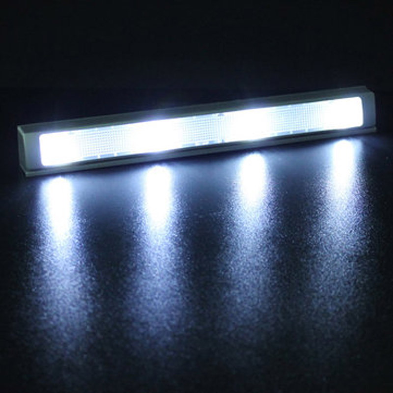 4 LED Auto Shaking Sensor Motion Detector Energy Saving Light Lamp For Closet Drawer Kitchen Cabinet CLH