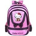 New fashion style hello kitty schoolbag backpack shoulder bag cute school bags teenagers mochila feminina mochilas infantis