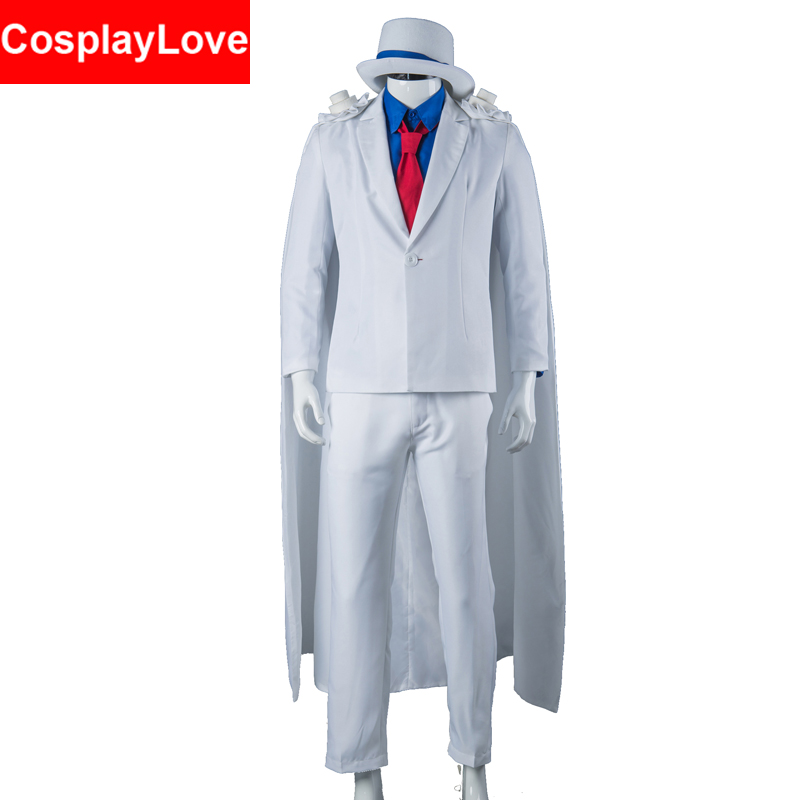 Kid the Phantom Thief Kaitou Kiddo KID Cosplay Costume Stock Cusotm Made For Halloween Christmas Party CosplayLove image