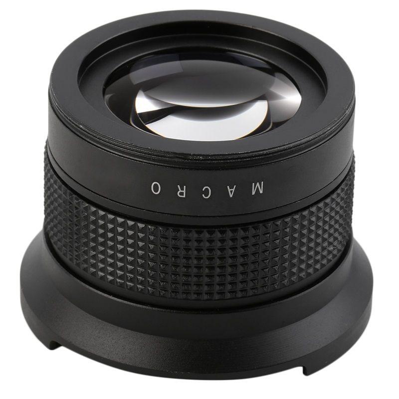 JINTU 58mm Altura 0.35X Fisheye et Macro Large Ange Objectif Pour Canon EOS 700D 650D 600D 550D 450D 7D 80D 1100D 18-55mm Lentille