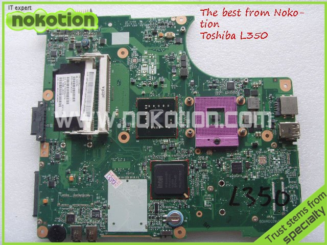 цены NOKOTION V000148210 Laptop motherboard for toshiba L300 L355 L350 Intel DDR2 Mainboard Full Tested