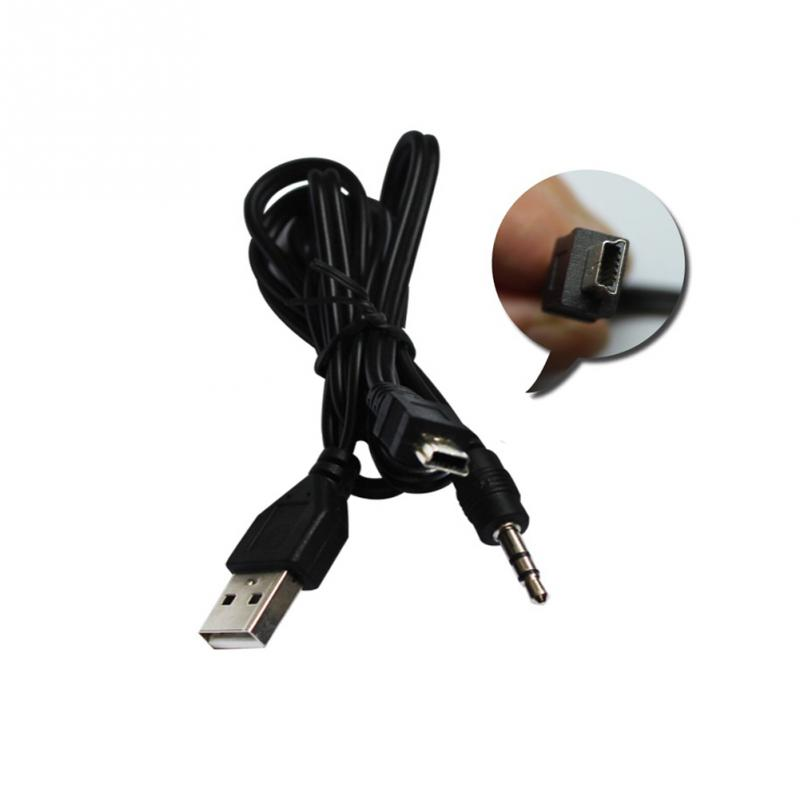2 in 1USB Cable Jack 3.5mm AUX Cable+USB Male Mini USB 5 Pin Charge for Bluetooth Player Portable Speaker titanium ring