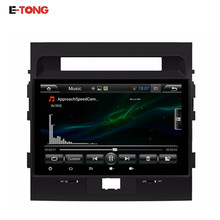 10.1inch Android 4.4.4  Car Radio Din 2 Bluetooth Autoradio 1024*600 GPS Navigation For Toyota Land Cruiser Car 200 LC200 07-12