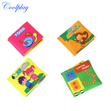 COOLPLAY Baby Toys Soft Cloth Book Rustle Sound Infant Learn