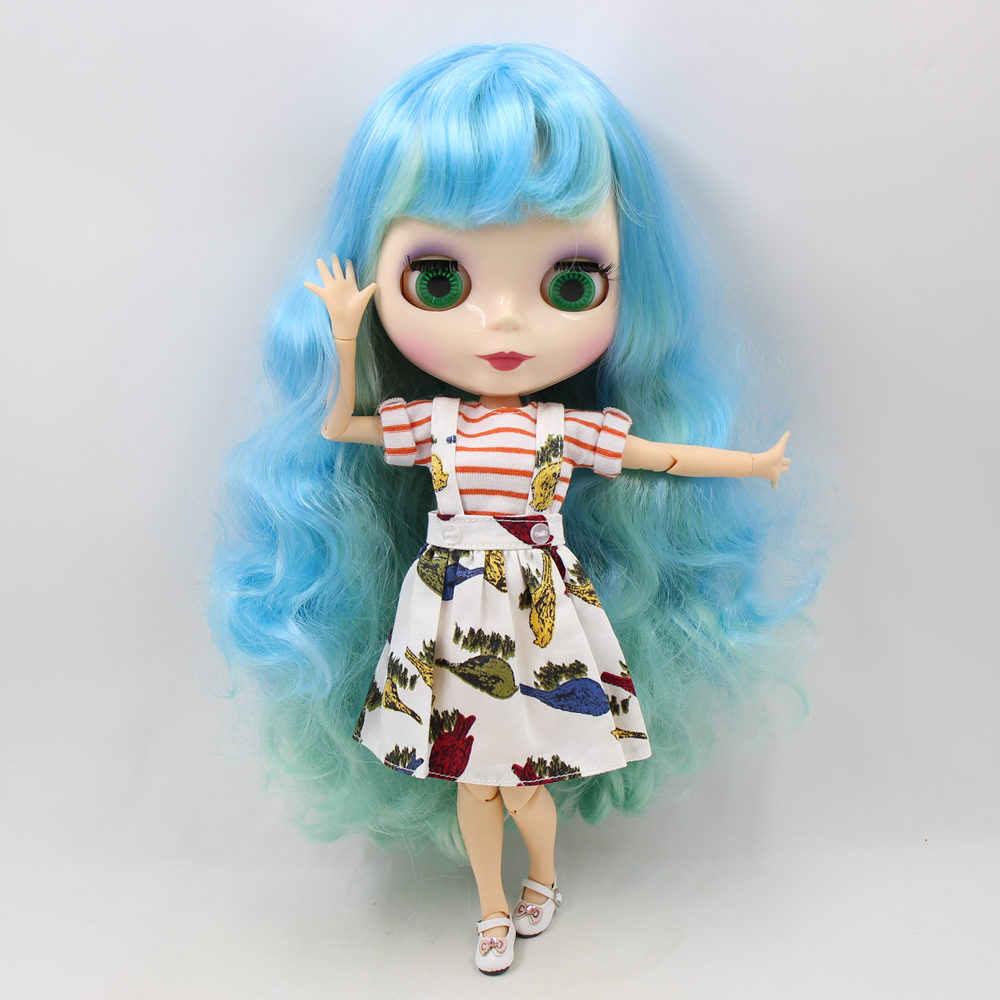 Blyth 1/6 Обнаженная кукла с светло-голубой микс зеленая прическа с челкой wihte кожи 30 см шарнир тела DIY игрушки BJD No.280BL6227/4006
