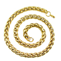 5MM Mens Chain Necklace Titanium Steel1 8K Gold Filled Necklace  Wholesale Jewelry Promotion Gift