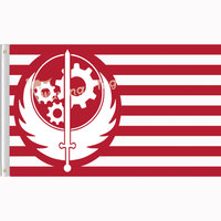 New Brotherhood Of Steel Flag Digital Printed Banner Polyester90x150cm With 2 Metal Grommets 3ft X 5ft