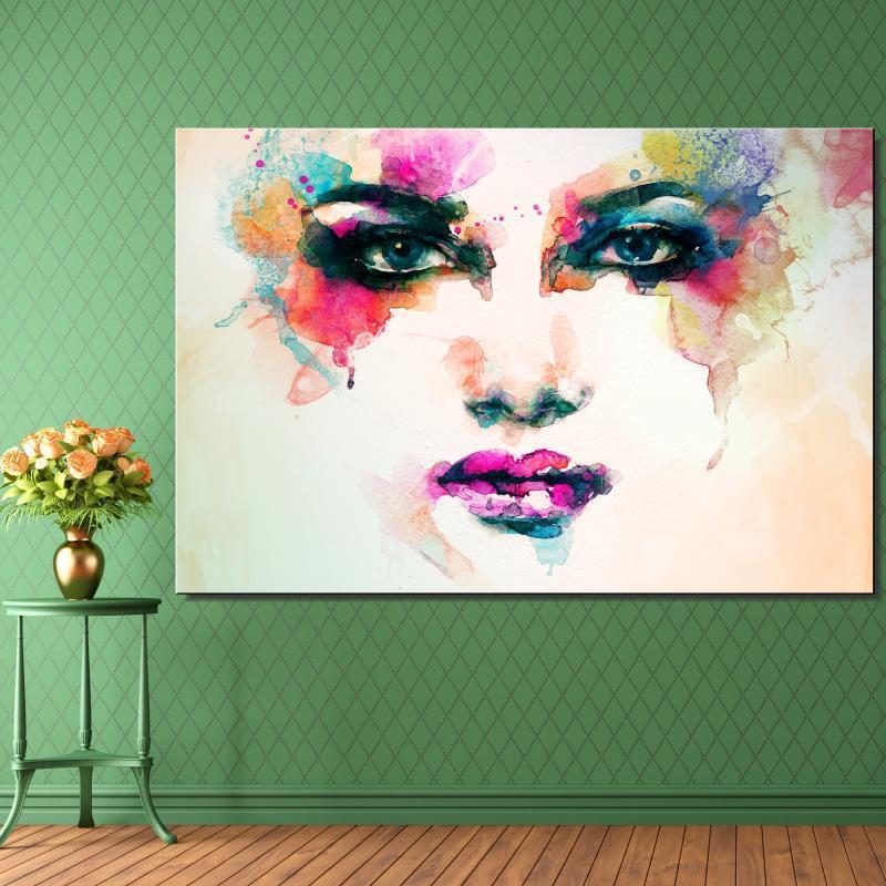 Черный и белый живопись в воде цвета Рисунок абстрактная живопись Домашний декор бескаркасная картина маслом холст рисунок