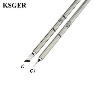 Image 2 - Паяльная станция KSGER T12 STM32 V2.1S OLED, наборы «сделай сам», наконечники паяльника, сварочные инструменты, контроллеры FX9501, алюминиевая ручка
