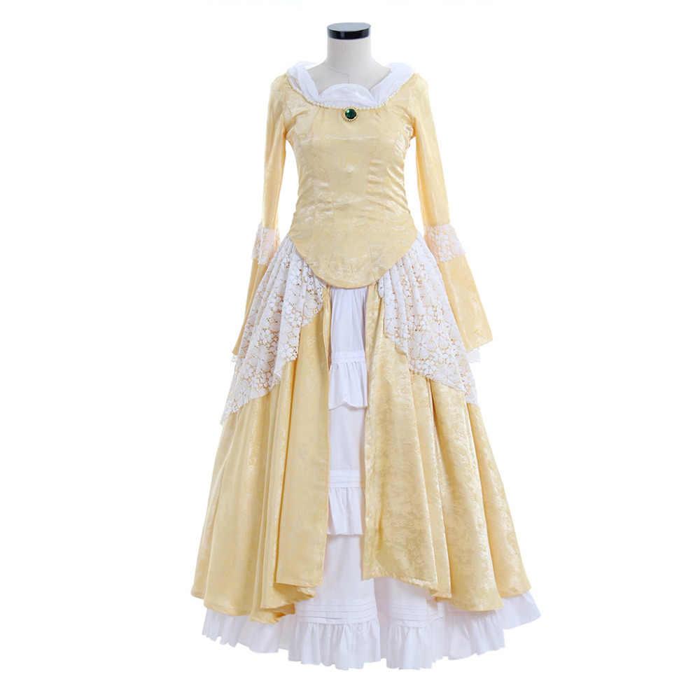 Средневековое платье Косплэй одежда с длинным рукавом Кружева Средневековый Ренессанс Готическая Лолита платье свадебное платье бальное платье костюм на Хэллоуин
