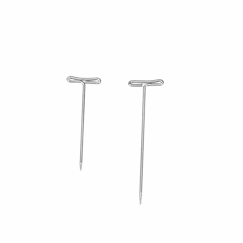 160Pcs/lot T Pins Type Needle For Wig On Foam Head Style Brazilian Indian Mannequin Head Sewing Hair Salon Styling Tools