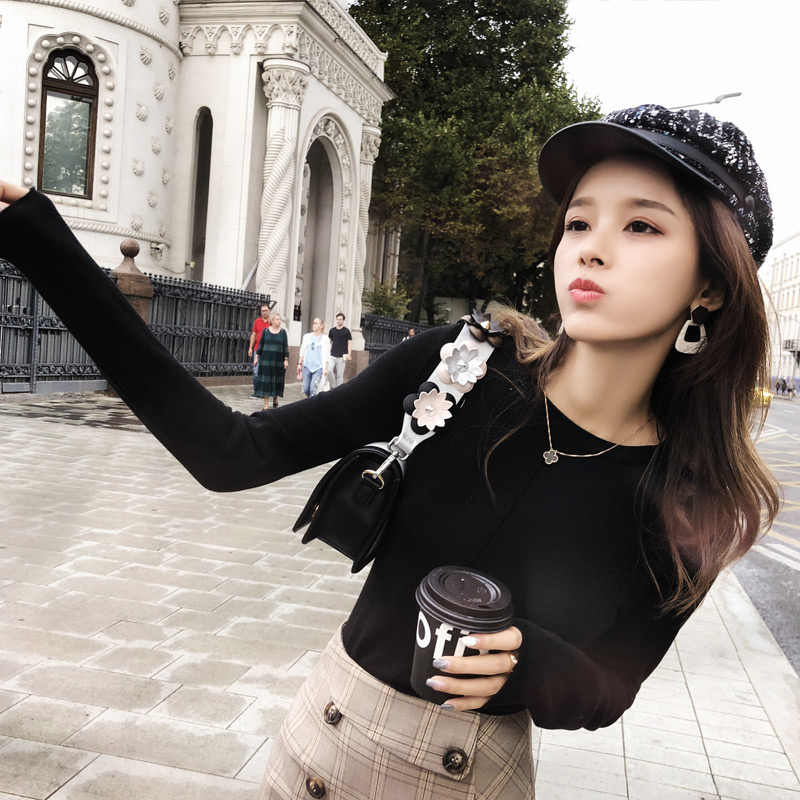 Mishow Women Pullovers 2018 Autumn Winter Sweater Knitted  Casual Jumper Fashion Slim Turtleneck Warm Female Sweaters MX18C5187