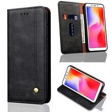 New Design Flip Leather Phone Case Cover For Xiaomi Redmi 6A Red mi 6 Card Holder Redmi6