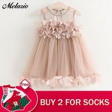 Melario Girls Dresses 2018 Sweet Princess Dress Baby Kids Girls Clothing Wedding Party Dresses Children Clothing