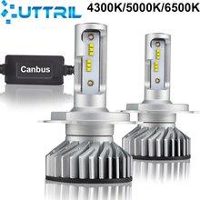 Uttril H7 светодиодный H4 светодиодный Canbus 4300K 5000K 6500K H11 автомобилей головной светильник лампочка H8 H9 H1 9005 HB3 9006 HB4 H3 светодиодный Автомобильная Противо-Туманная светильник 12000LM