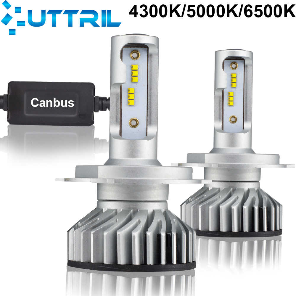 Uttril H7 LED H4 LED Canbus 4300K 5000K 6500K H11 Car Headlight Bulb H8 H9 H1 9005 HB3 9006 HB4 H3 LED Auto Fog Light 12000LM
