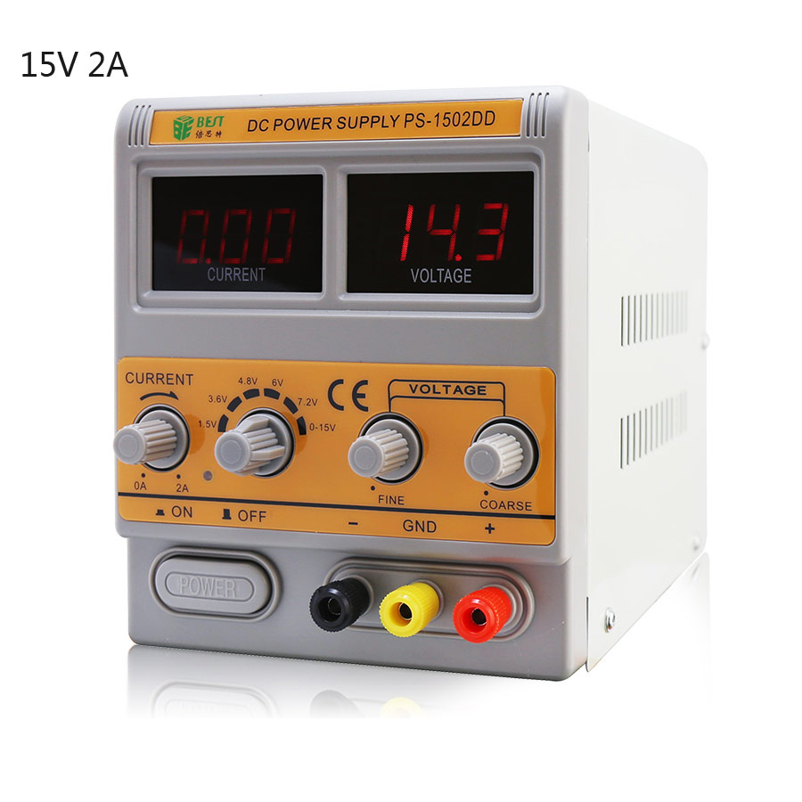 BEST-1502DD Mobile Phone Repair DC Adjustable Power Supply Voltage Regulated Digital display high precision Power Supply15V/220V