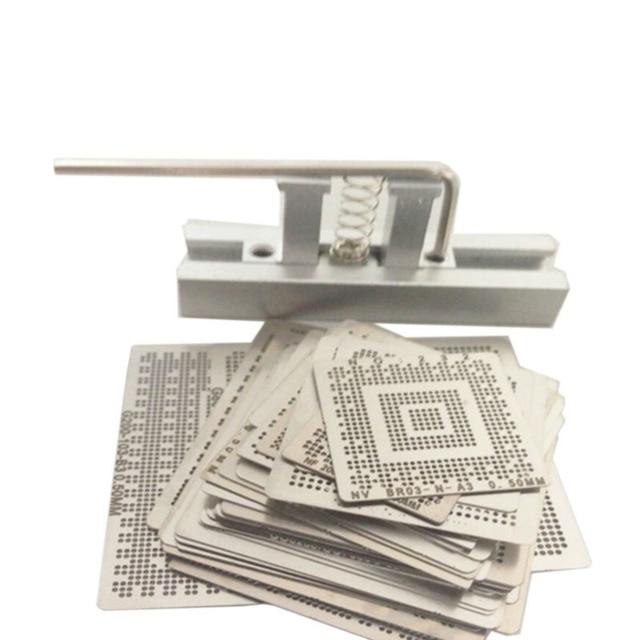 139 Pcs /Set BGA Reballing Stencil Template Kit for Laptop Rework Solder Repair Tools