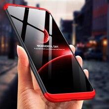 Aikewu for XiaoMi Mi 8 Case 3 in 1 Design Shock-proof Hard PC Matte Back Cover Mi8 Capa