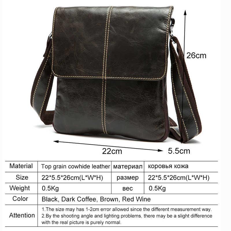 Мужская сумка через плечо WVA, маленькая сумка-почтальонки из натуральной кожи