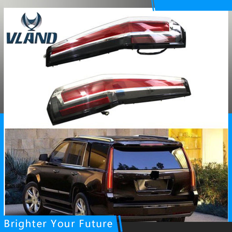 Escalade Style LED Tail Lights Rear Lamp Fit For 2015 2016 2017 GMC YUKON Red Tail Lights Assembly good working original used for power supply board led50r6680au kip l150e08c2 35018928 34011135