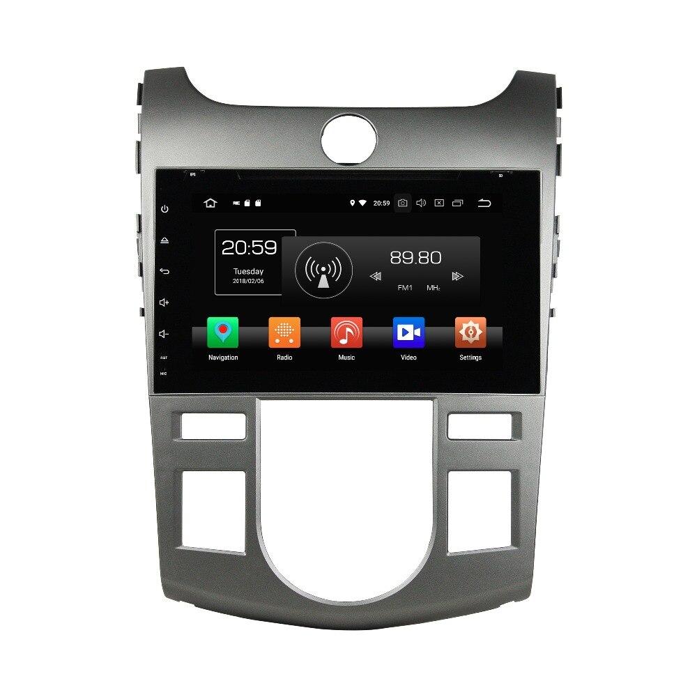 OTOJETA android 8.0 voiture multimédia lecteur 8 noyaux 4 gb RAM 32 gb ROM IPS écran pour Kia CERATO FORTE 2008-2012 GPS radio unités centrales