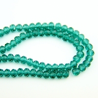720 3600pcs Peacock Green 4X6/6X8mm Faced Glass Crystal Rondelles Beads China Craft Material For Home Decoration Wholesale