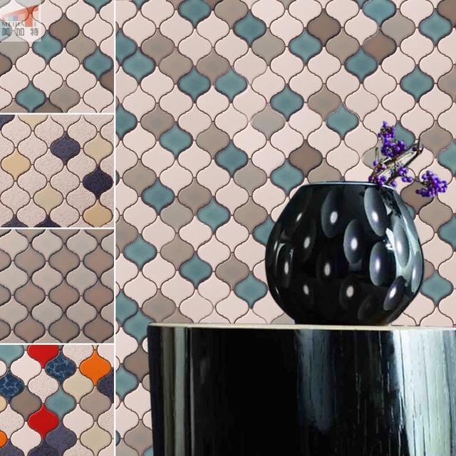 Lantern Porcelain tile Pebble ceramic mosaic tile wall mounted