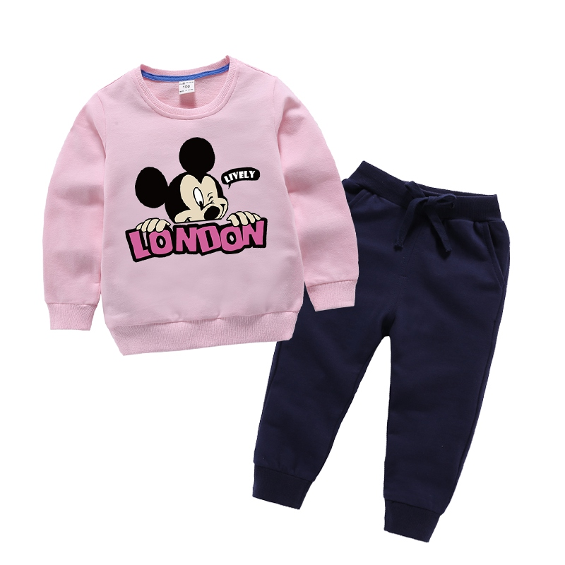 2018 Trend Youngsters Clothes Set Women Cartoon Mickey Clothes Child Youngsters Garments Units Boys Lengthy Sleeve Tshirt Pants Fits Clothes Units, Low-cost Clothes Units, 2018 Trend Youngsters Clothes Set...
