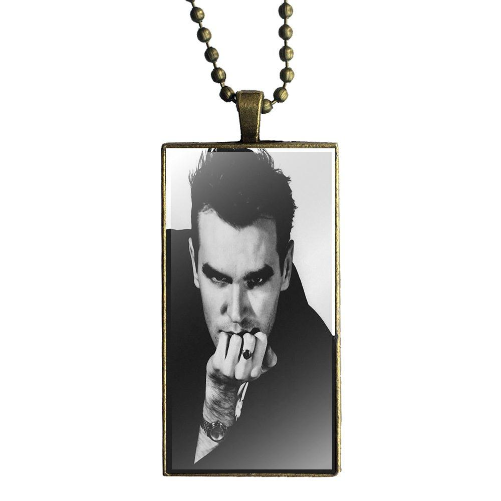 Ej Glaze For Girls Gifts Glass Pendant Necklace Handmade Half Pendant Rectangle Necklace The Smiths Morrissey British Jewelry & Accessories Pendant Necklaces