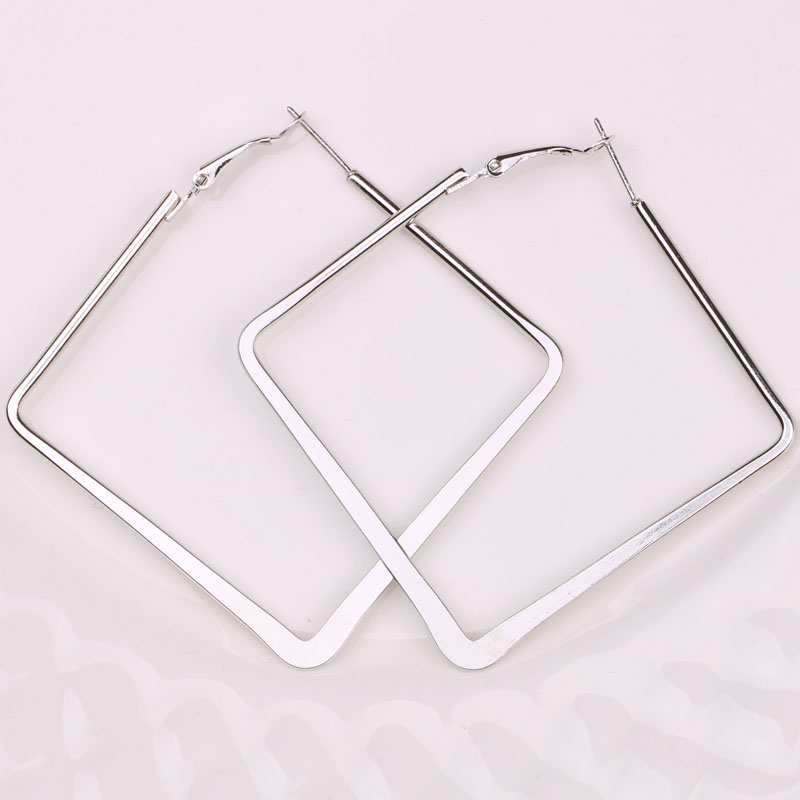 Hgflyxu Gold Sliver Color Big Square Hoop Earrings For Women Girl Earring  Daily Party  Fashion Jewelry